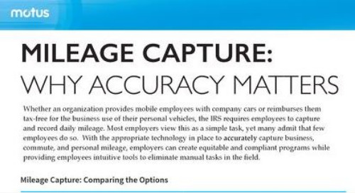 Mileage Capture: Why Accuracy Matters