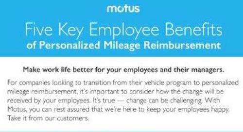 Five Key Employee Benefits of Personalized Mileage Reimbursement