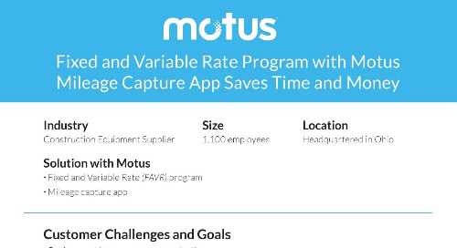 FAVR Program with Motus App Saves Time and Money