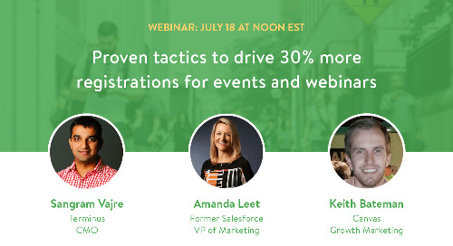Webinar: Proven tactics to drive 30% more registrations for events and webinars