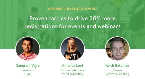 Webinar: Proven tactics to drive 30% more registrations for events and webinars