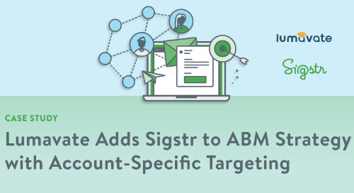 Lumavate Adds Sigstr to ABM Strategy with Account-Specific Targeting