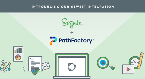 Sigstr + PathFactory: Deliver Personalized Email Signature Marketing at Scale and Understand How Buyers Engage with Content