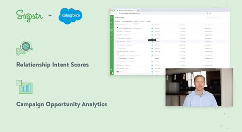 New Salesforce Integration: Relationship Intent Scores and Opportunity Analytics