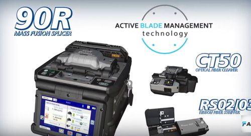 Video: Fujikura 90R Mass Fusion Splicer with Active Blade Management