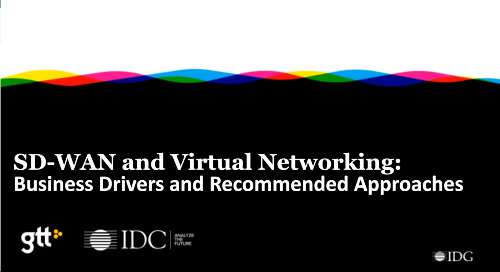 IDG Webinar: SD-WAN and Virtual Networking