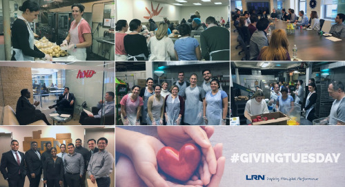 LRN Gives Back on #GivingTuesday