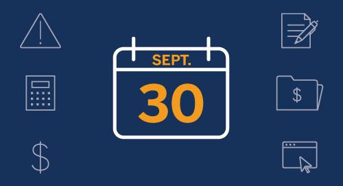 Date limite le paiement de l'impôt : 30 septembre