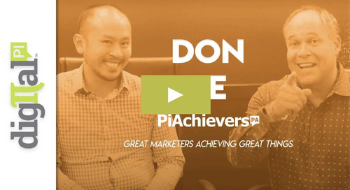Don Le Featured as the Latest PiAchiever