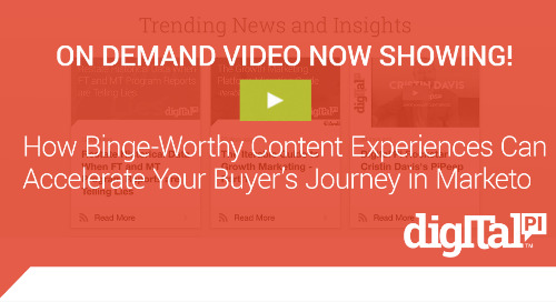 Now Showing! Content and The Buyers Journey in Marketo