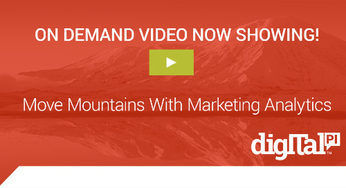 ON Demand Webinar - Move Mountains With Marketing Analytics