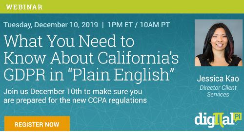 CCPA Webinar - REGISTRATION NOW OPEN!