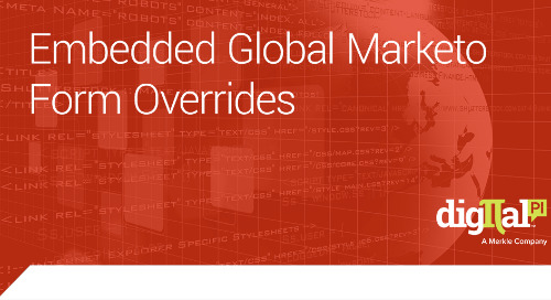 Embedded Global Marketo Form Overrides