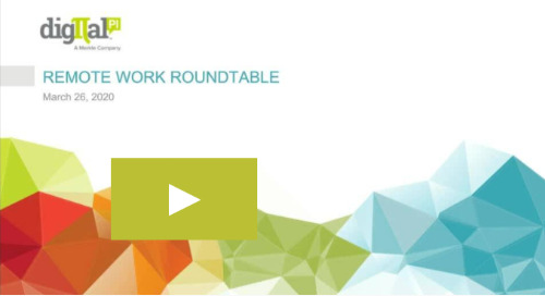 On Demand Webinar - Remote Work Roundtable