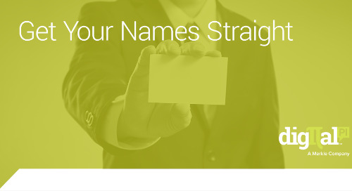 Get Your Names Straight – Marketo Best Practice Naming Conventions
