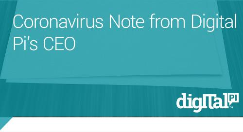 Coronavirus Letter From Digital Pi