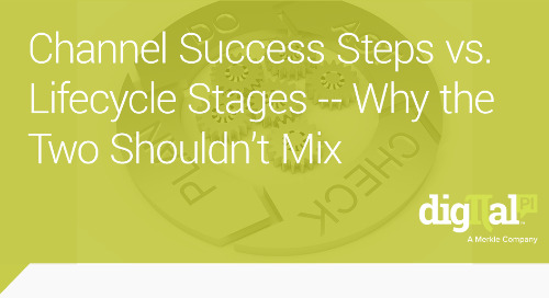 Channel Success Steps vs. Lifecycle Stages -- Why the Two Shouldn't Mix