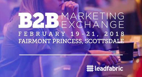FR: Résumé de l'édition 2018 du B2B Marketing Exchange