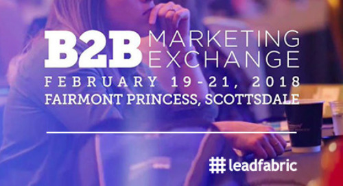 FR: Résumé de l'édition 2018 du B2B Marketing Exchange