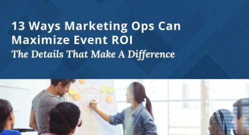 Maximizing event ROI