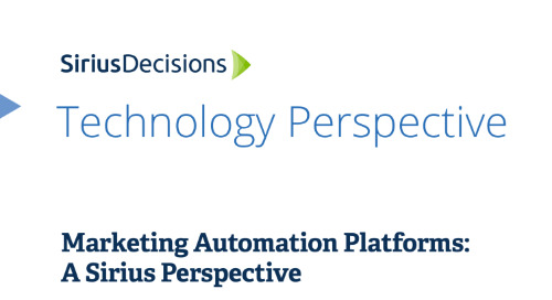 Marketing automation platforms a Sirius perspective