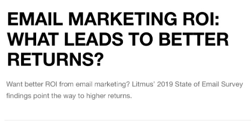 Email marketing ROI: what leads to better returns?