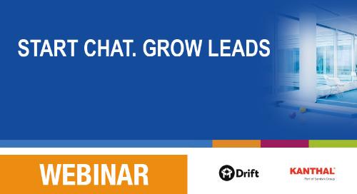 Slides: Start web chat, grow leads