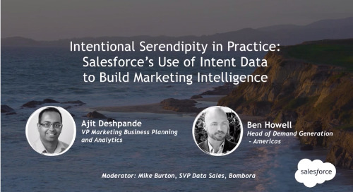 Intent Event 2018 - Intentional Serendipity in Practice: Salesforce's use of Intent data to build marketing intelligence
