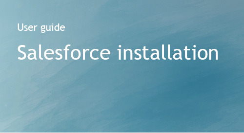 Salesforce Installation Guide - Bombora
