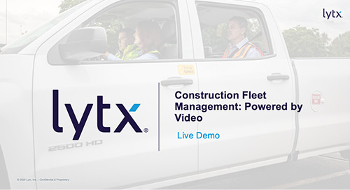Construction Fleet Management: Powered by Video (Demo)