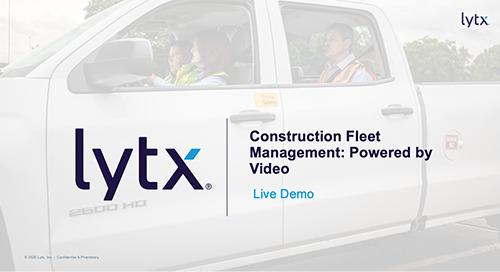 Construction Fleet Management: Powered by Video (Demo)