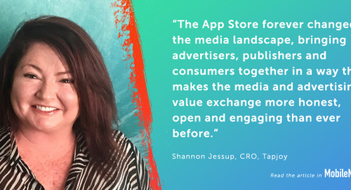 Tapjoy CRO Shannon Jessup Looks Back on 10 Years in the App Store With Mobile Marketing Magazine