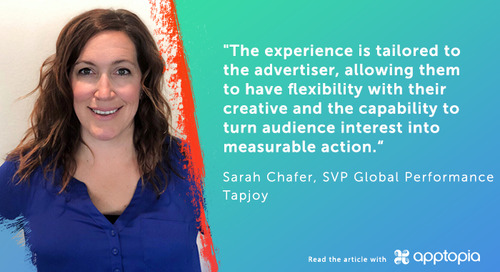 Sarah Chafer, SVP of Performance Sales, Discusses Rewarded Video Engagement With Apptopia