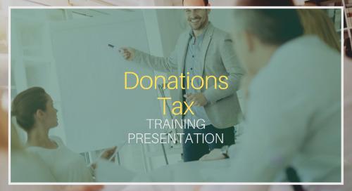 Donations Tax Training [Presentation]