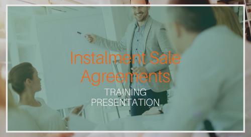 Instalment Sale Agreements [Presentation]