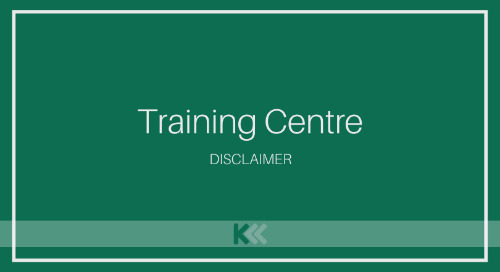 Training Centre DISCLAIMER