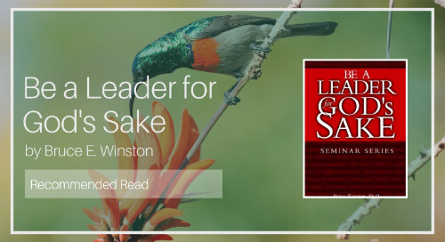 Be a Leader for God's Sake [Recommended Read]