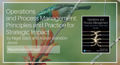 Operations and Process Management [Recommended Read - Diaan van Wyk]