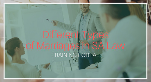 Different Types of Marriages in SA Law [Training]