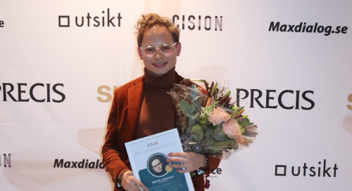 Daniel Redgert awarded the Cision PR Influencer Award 2019 at Sweden's Spinngalan Awards