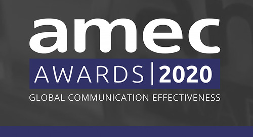 We are Proud to be Gold Winners at 2020 AMEC Awards