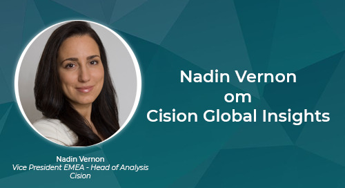 Nadin Vernon om Cision Global Insights