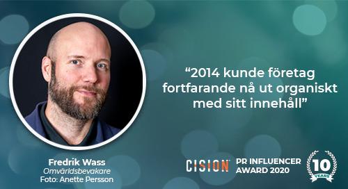 """Fredrik Wass: """"2014 kunde företag fortfarande nå ut organiskt med sitt innehåll"""""""