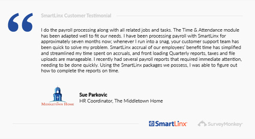 """""""SmartLinx simplified and streamlined my time spent on accruals"""""""