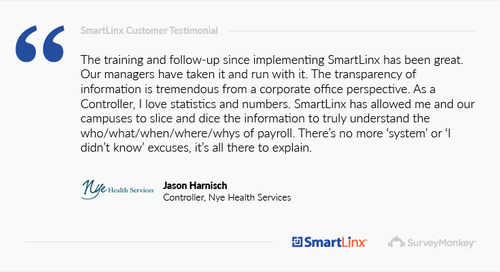 """""""SmartLinx has allowed me and our campuses to truly understand payroll"""""""