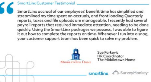 """SmartLinx simplified and streamlined my time spent on accruals"""