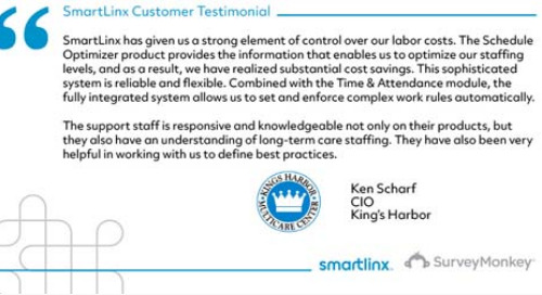 """SmartLinx has given us a strong element of control over our labor costs"""