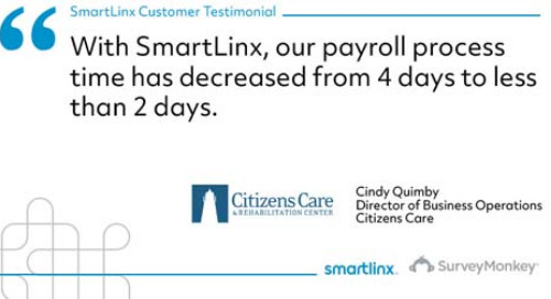 """Our payroll process time has decreased"""