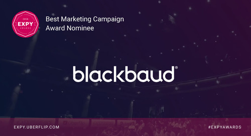 Blackbaud, Best Marketing Campaign
