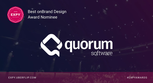 Quorum Software, Best onBrand Design